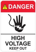Danger High Voltage Keep Out, #53-301 thru 70-301