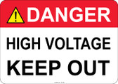 Danger High Voltage, Keep Out - #53-306 thru 70-306