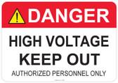 Danger High Voltage Keep Out - #53-308 thru 70-308