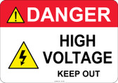 Danger High Voltage Keep Out - #53-309 thru 70-309