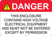 Danger High Voltage - #53-310 thru 70-310