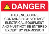 Danger High Voltage - #53-310 thru 70-310