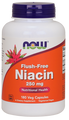 Now Foods Flush-Free Niacin 250 mg 180 Vegetarian Capsules #0484