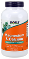 Now Foods Magnesium & Calcium 250 Tablets #1278