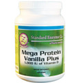 Standard Enzyme Mega Protein Vanilla Plus, Supports: Provides a rich source of all the indispensable amino acids essential to health. Pea Protein beverage powder also provides a significant amount of the prebiotic fructooligosaccharide (FOS) in a delicious vanilla bean flavor.