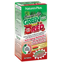 Natures Plus Source of Life GREEN AND RED Multi-Vitamin & Mineral with Whole Food Concentrates 90 Tabs