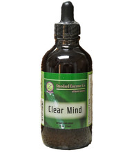 Standard Enzyme Clear Mind 4oz Liquid, Supports: Promotes healthy brain chemistry. Ingredients are potentially helpful for Alzheimer's, Dementia, mood improvement, memory, mental clarity, circulation, and the immune system.