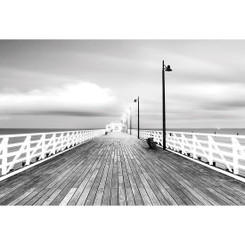 NEW SHORNCLIFFE PIER - BW