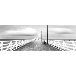 NEW SHORNCLIFFE PIER - BW - LONG
