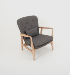 Max Armchair: Grey (Grey Buttons)