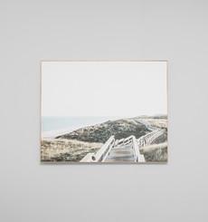 Summer Walk Landscape - Framed Canvas