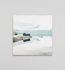 Norwegian Lake Framed Canvas