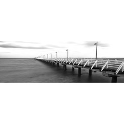 NEW SHORNCLIFFE PIER - BLACK & WHITE