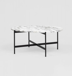 Rhonde Marble Coffee Table: Black