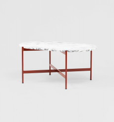 Rhonde Marble Coffee Table: Rust