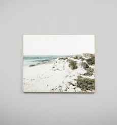 BLUE BAY SCAPE - FRAMED CANVAS