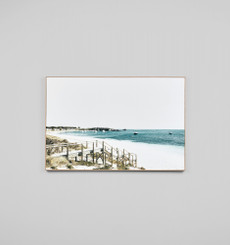 BLUE BAY STEPS - FRAMED CANVAS
