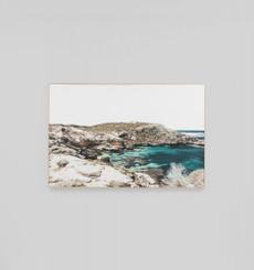 Azure Bay Framed Canvas