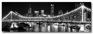 STOREY BRIDGE - BRISBANE - BLACK & WHITE