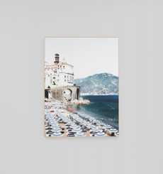 Amalfi Beach Frame Canvas