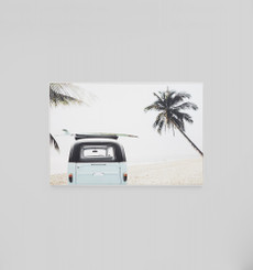 Surfers Escape Framed Canvas