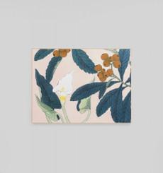 Calla Lilly Woodblock Framed Canvas