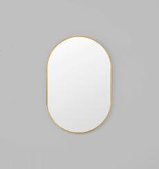 Bjorn Oval Mirror - Brass - 65 x 100cm
