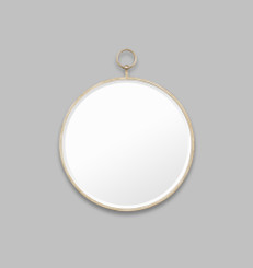 ANTIQUE FOB MIRROR - SILVER