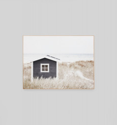 Coastal Cottage Framed Canvas