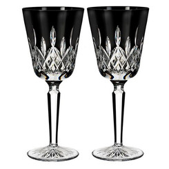 Waterford Crystal Lismore Black - Goblet Pair