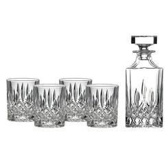 Royal Doulton Square Spirit Decanter Set: Decanter & 4 Tumblers
