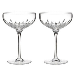 Waterford Crystal Lismore Essence Champagne Saucer Pair