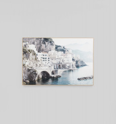 Italian Morning View Framed Canvas