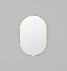 Bjorn Oval Mirror - Brass - 80 x 120cm