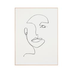 Linear Portrait 2 - Framed Canvas,