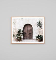 Villa Door Natural, framed, print