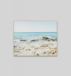 Coastal Rockpools Framed Canvas