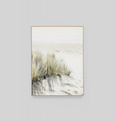 Footprints in the Sand - Framed Canvas