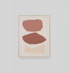 Bergen Terracotta Framed Screen Print