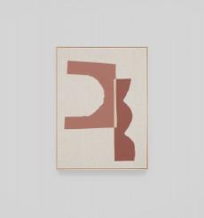 Nesna Terracotta Framed Screenprint