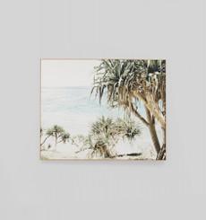 Coastal Palms Landscape Framed Canvas
