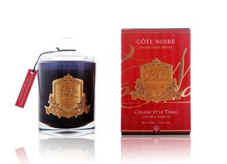 COTE NOIRE COGNAC & TOBACCO - 450g GOLD BADGE CANDLE