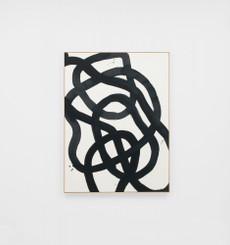 Saga Black Framed Canvas