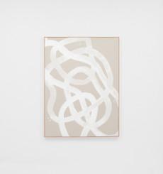 Saga White Framed Canvas