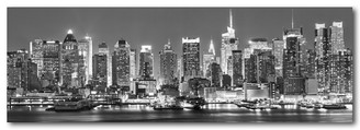 MANHATTAN AT NIGHT - B & W - 158 X 53cm