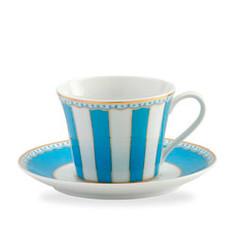 Carnivale Light Blue Cup & Saucer Set