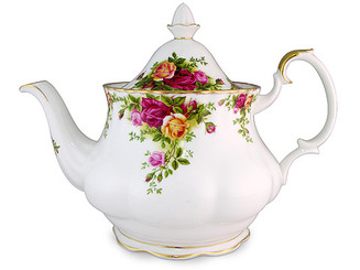 Whenever Royal Albert is mentioned, a singular pattern comes to the mind of most…  And that pattern is Old Country Roses.  Since its design in 1962, Royal Albert's Old Country Roses has become one of the world's favourite china patterns; the result of the hard work of Harold Holdcroft, Royal Albert's Art director at the time. Its graceful, feminine pattern of English roses in full bloom is treasured by collectors everywhere, due to the lushness of its deep red roses, the warmth of tea roses, and the overall softening of the pattern using a light shade of green. Finished with twenty-two carat gold edges, Old Country Roses is luxurious, grand, and unquestionably beautiful.  Now, decades later, Old Country Roses is as stunning and popular as ever – and it's easy to see why. The timeless splendour of decadent summer roses will charm your heart away, as it has for so many the world over.  Large Teapot features: Made from fine bone china. Lavishly decorated with 22-karat gold. Liquid dishwasher safe.   Capacity: 6 Cups.