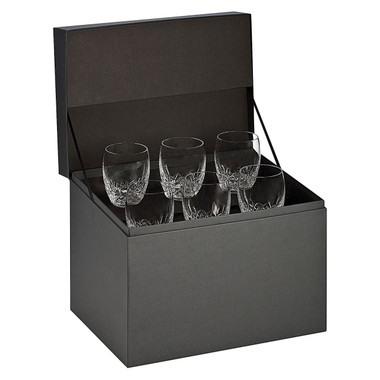 For a night-cap made modern, opt for the handsome cut form of the crystal Lismore Essence DOF Glass (Set of 6) from Waterford. Made from crystal for exquisite quality and lasting good looks Slender, contemporary form lightly cut in a delicate wedge for detailing instilling a sparkle of class in your drinkware Gift boxed to make the perfect present for any special occasion Includes two years of pattern and breakage replacement warranty for your peace of mind Match with other items from the Lismore Essence range from Waterford for a coordinated look Includes six glasses, perfect for a stiff drink on the rocks, for a complete set