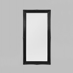 JULIETTE GLOSS BLACK MIRROR 74X150CM.  TRADITIONAL STYLE MIRROR FEATURING A DETAILED GLOSS BLACK FRAME.   AVAILABILITY: USUALLY SHIPS IN 2-4 WEEKS.