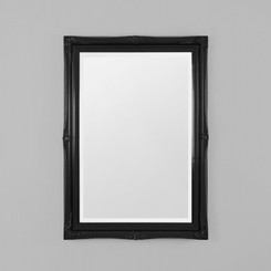 JULIETTE GLOSS BLACK MIRROR 73X103CM  TRADITIONAL STYLE MIRROR FEATURING A DETAILED BLACK FRAME.  AVAILABILITY: USUALLY SHIPS IN 2-4 WEEKS.